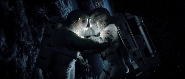 "George Clooney and Sandra Bullock star in ""Gravity."""