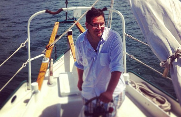 Host Jorge Meraz sailing in Ensenada, Baja California, Mexico.