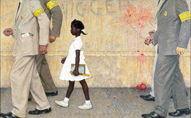 Norman Rockwell depicted the history-changing walk by the six-year old Ruby B...