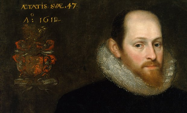 The famous Ashbourne portrait, purchased by the Folger Shakespeare Library, w...
