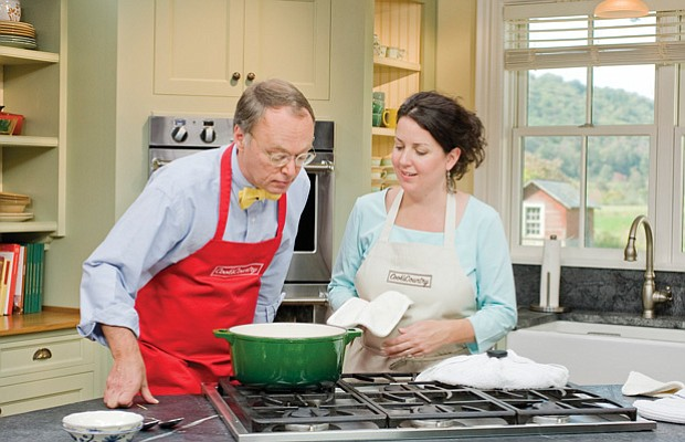 Host Chris Kimball with test cook Erin McMurrier. The Daytime Emmy®-nominated...