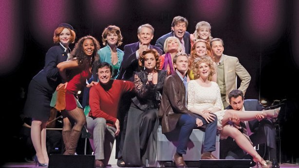 "The cast from ""Stephen Sondheim's Company With The New York Philharmonic."""
