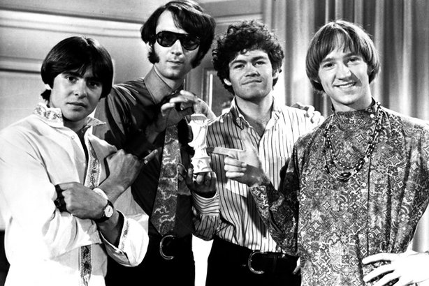 The late Davy Jones, left, is seen with fellow members of iconic pop-rock gro...