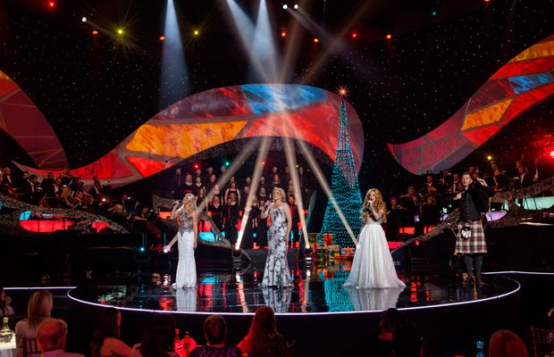 l r susan mcfadden mav ni mhaolchatha lisa lambe and anthony byrne - Celtic Woman Home For Christmas
