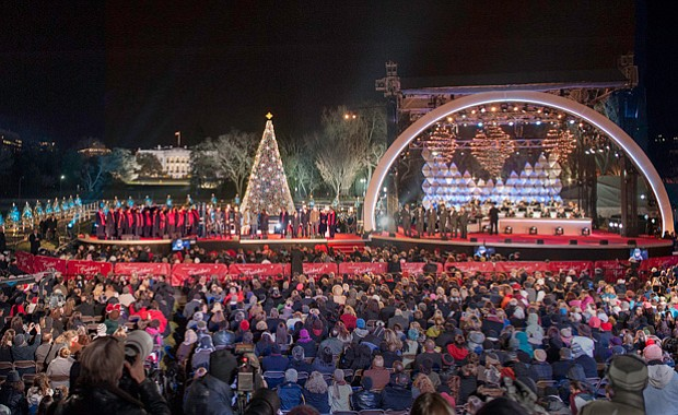 The lighting of the National Christmas Tree on the Ellipse in Washington, D.C...