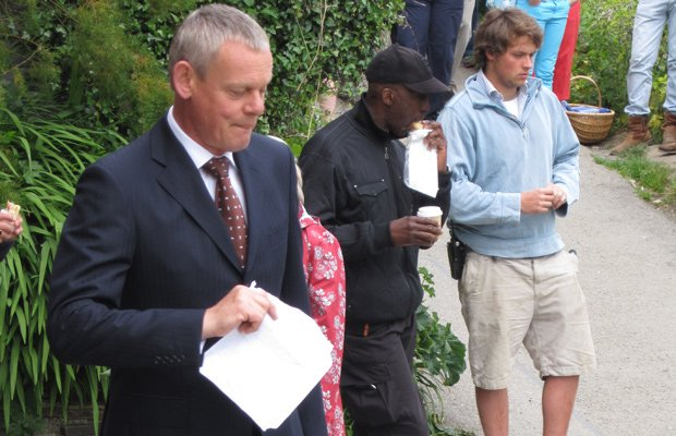 Martin Clunes behind the scenes in