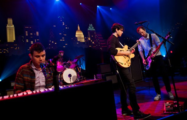 "Indie rock band Vampire Weekend plays songs from its latest ""Modern Vampires ..."