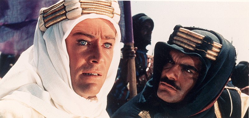 Peter O'Toole as T.E. Lawrence in