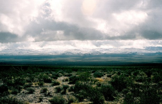 Snow on the Providence Mountains can happen a few times every winter, Mojave ...