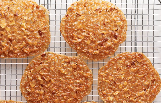 Brandy Snap Cups. Martha Stewart makes five variations of the paper-thin cook...