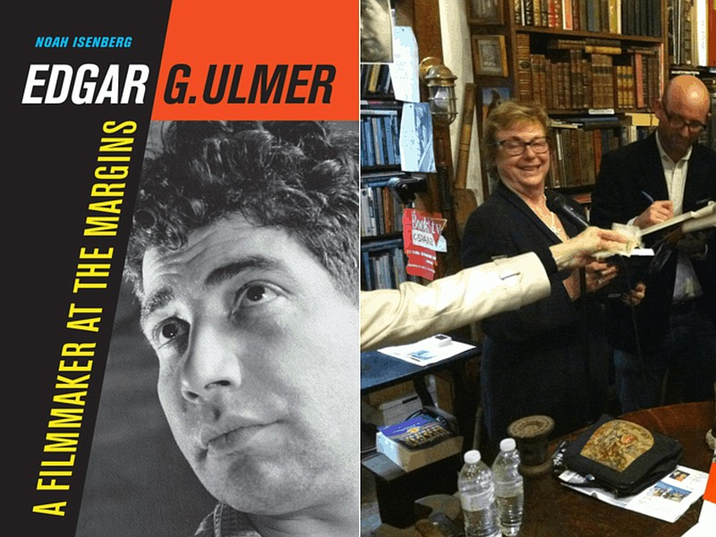 Author Noah Isenberg and Arianne Ulmer Cipes sign books at D.G. Wills Books i...
