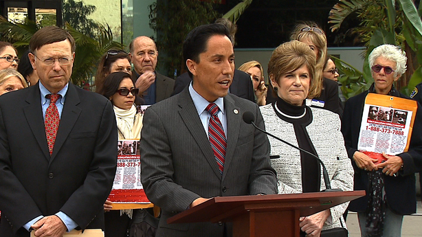 Interim San Diego Mayor Todd Gloria speaks about a new campaign to help comba...