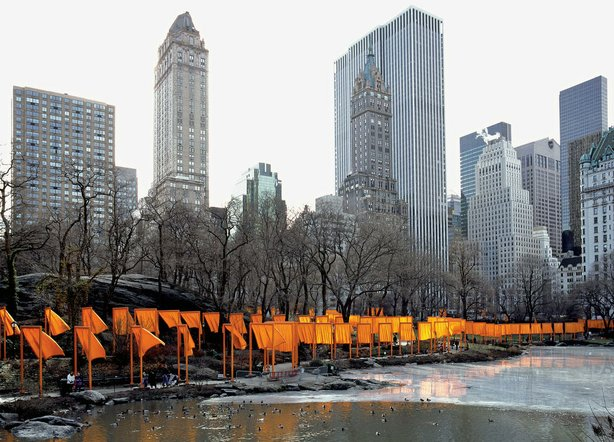 """The Gates"" in New York City's Central Park by Christo and Jeanne-Claude."