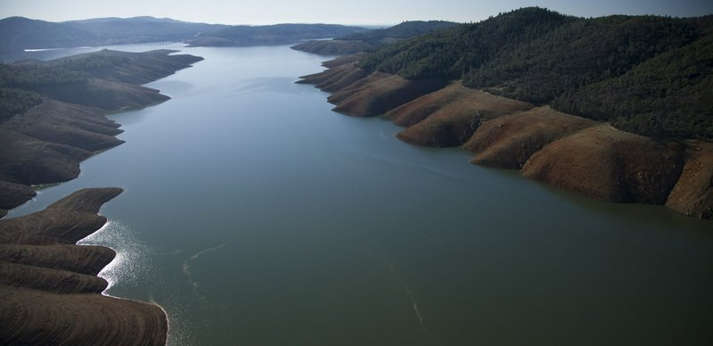 Lake Oroville, one of Northern California's largest reservoirs is just 36 per...
