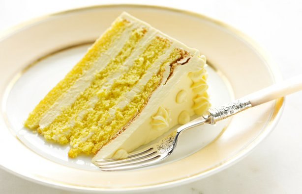 Martha Stewart makes three celebration cakes, including this four-layer génoise cake with passion fruit buttercream.