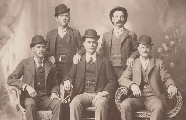 The Fort Worth Five from left to right: Harry Alonzo Longabaugh (The Sundance...