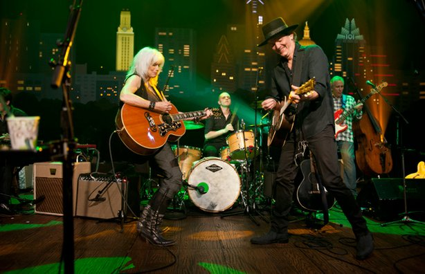 """Country legends Emmylou Harris and Rodney Crowell play favorites and songs from their joint LP """"Old Yellow Moon."""""""