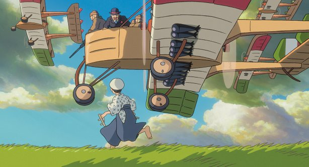 "Hayao Miyazaki's ""The WInd Rises"" tells the story of airplane designer Jiro H..."