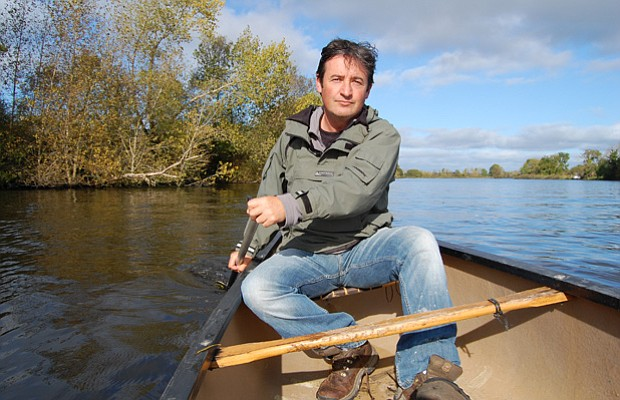 Colin Stafford-Johnson on the Shannon River.
