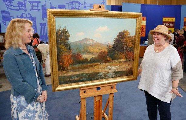 Nan Chisholm appraises a Porfirio Salinas oil painting, ca. 1935 for $75,000 ...