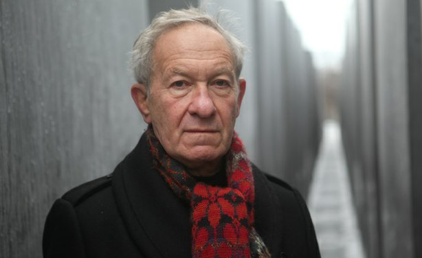 Simon Schama at the Berlin Holocaust Memorial, Germany.