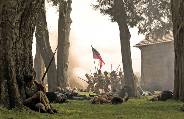 A battle scene from CIVIL WAR: THE UNTOLD STORY, which examines the well-docu...