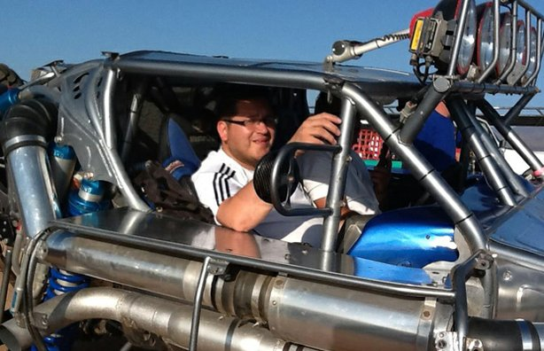 Host Jorge Meraz goes for an off-road ride along in Ensenada, Baja California...