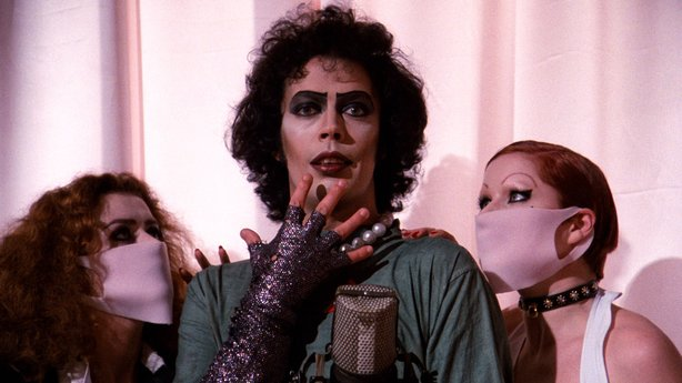 "Tim Curry stars as the sweet transvestite from Transsexual Transylvania in ""The Rocky Horror Picture Show."""