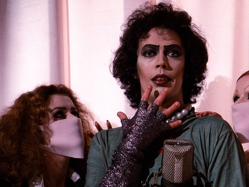 Tim Curry stars as the sweet transvestite from Transsexual Transylvania in