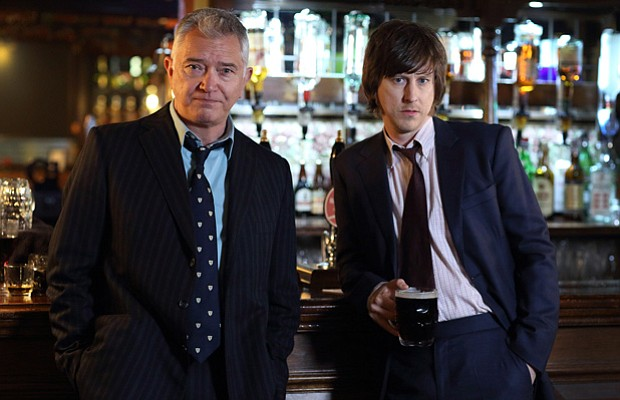 Martin Shaw as Inspector Gently and Lee Ingleby as Sgt. John Bacchus.