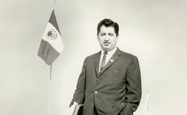Ruben Salazar during his time as The Los Angeles Times Bureau Chief in Mexico...