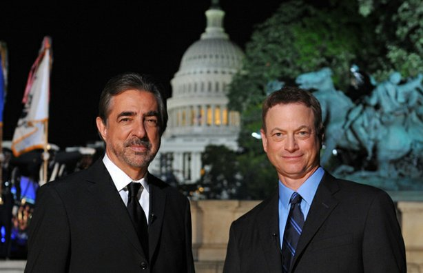 "Actors Joe Mantegna and Gary Sinise co-host the 2014 ""National Memorial Day Concert,"" the 25th anniversary of the broadcast from the West Lawn of the Capitol."