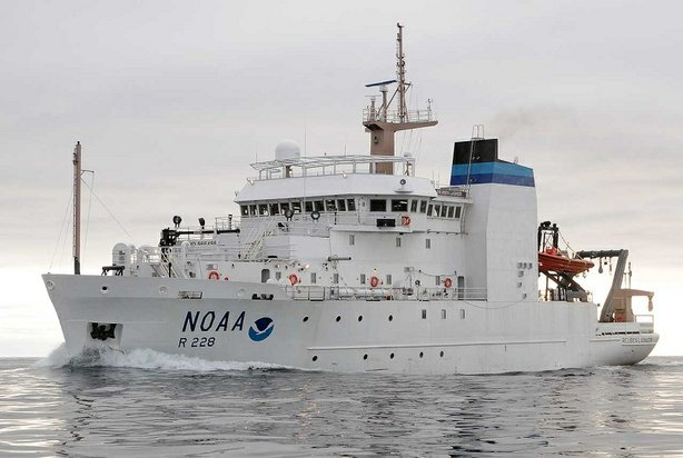 NOAA's ship, the Reuben Lasker, is the fifth in a series of Fishery Survey Ve...