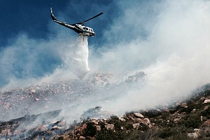 Firefighters Battle Four East County Brush Fires