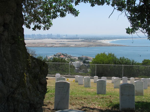 Fort Rosecrans National Cemetery in Point Loma.