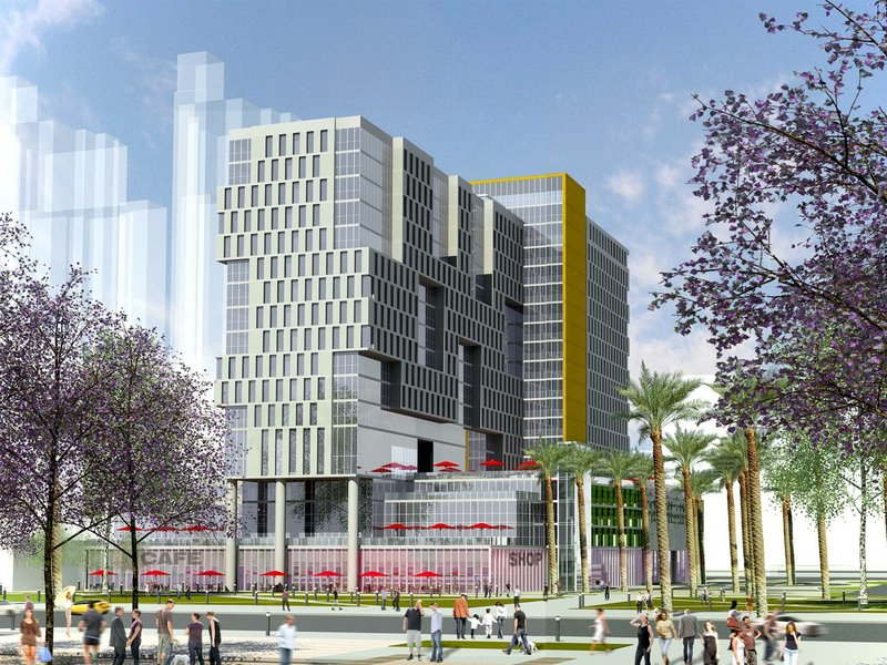 An artist's rendering shows the Port of San Diego's Lane Field hotel project,...