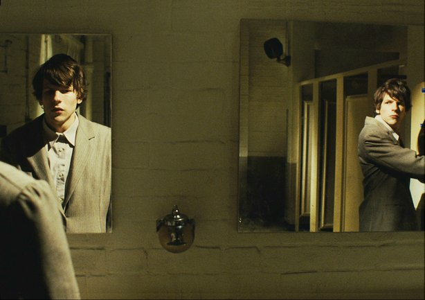 "Jesse Eisenberg has trouble with a doppelganger in ""The Double."""