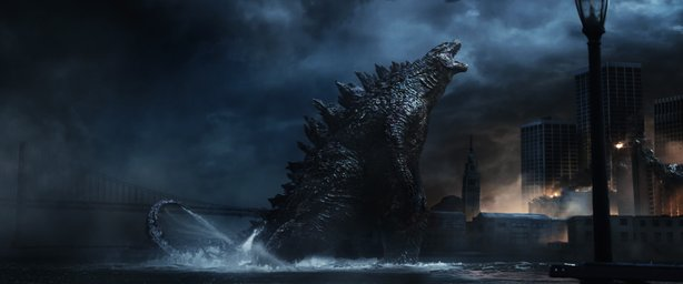 "The 2014 ""Godzilla"" roared into theaters over the weekend to the second large..."