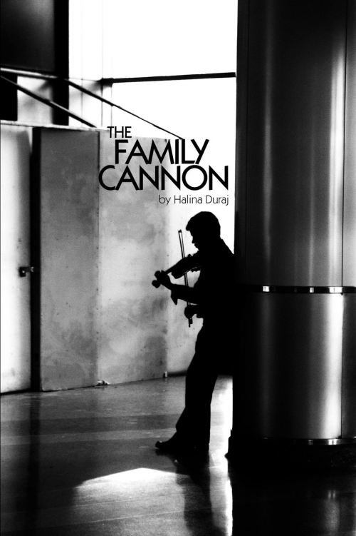 "Book cover of Halina Duraj's book, ""The Family Cannon"""