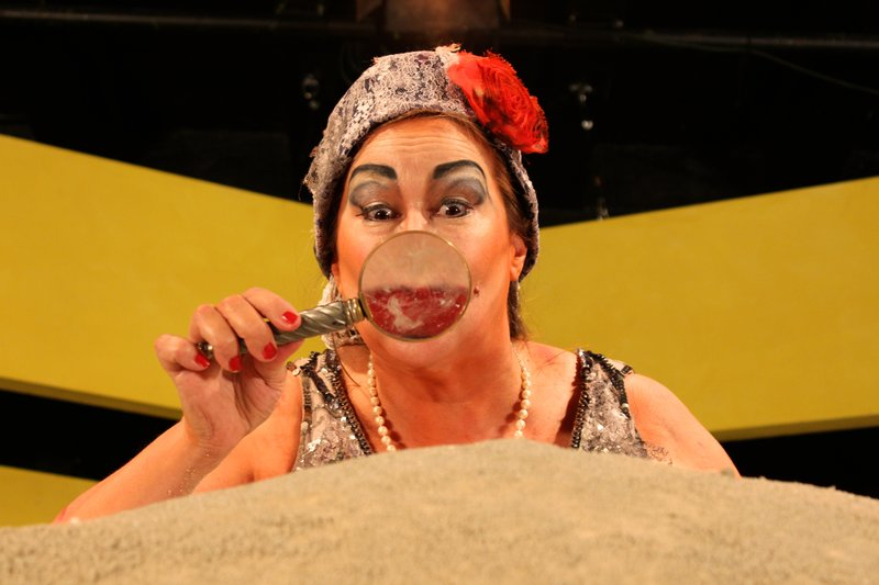 Dana Hooley stars as Winnie in the Sledgehammer_ production of Samuel Beckett...
