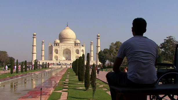 Jason DaSilva at the Taj Mahal.