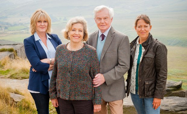 Sarah Lancashire as Caroline, Anne Reid as Celia, Derek Jacobi as Alan, Nicol...