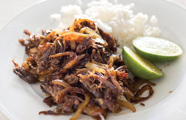 Cuban Shredded Beef with Garlic and Lime.