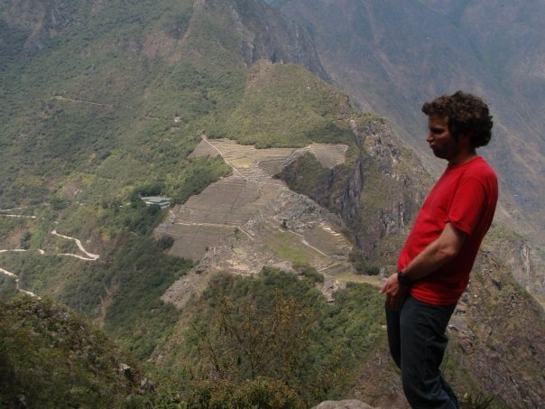 "One of Jon Bennett's favorite ""Pretending Things Are A C*ck"" photos, this one taken in Machu Picchu, Peru."