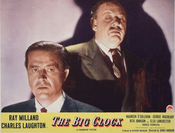 "Ray Milland and Charles Laughton star in the film noir, ""The Big Clock,"" scre..."