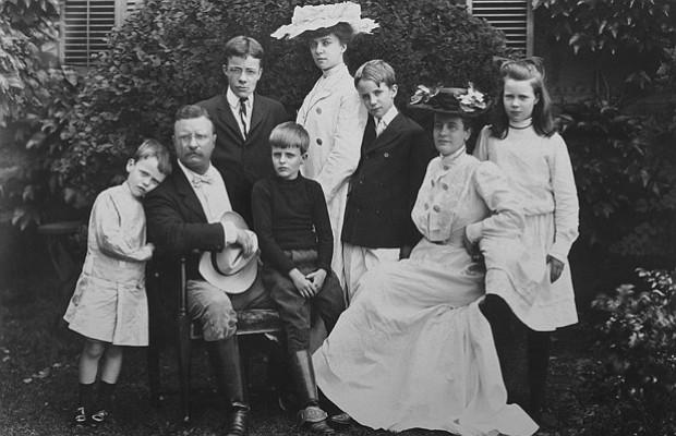 President Theodore Roosevelt with his family, 1903.