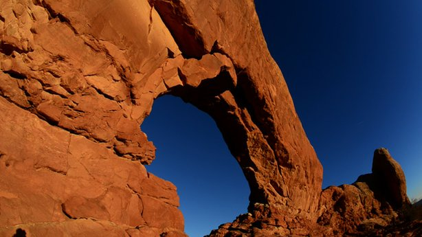 This cinematic journey through the breathtaking scenery of the American West's iconic red rock country includes Arches National Park.