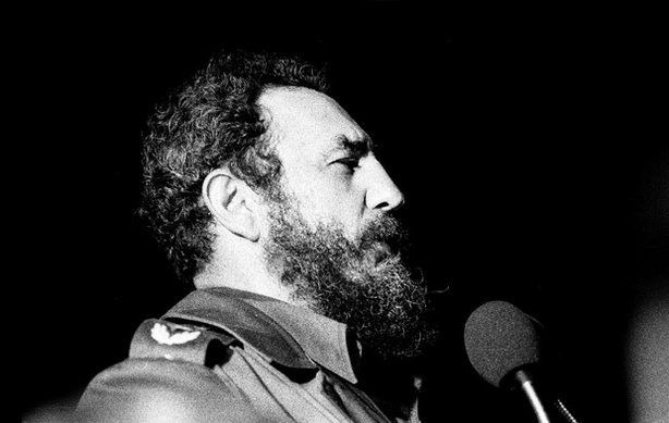 "Fidel Castro speaking in Havana, 1978. ""Fidelcastro1978"" by Marcelo Montecino..."