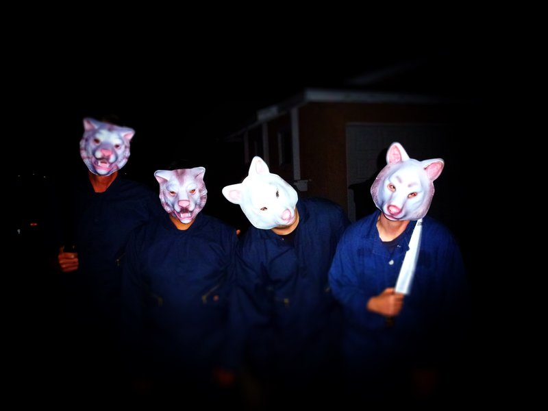 Some of the cast members of my home haunt from last year.