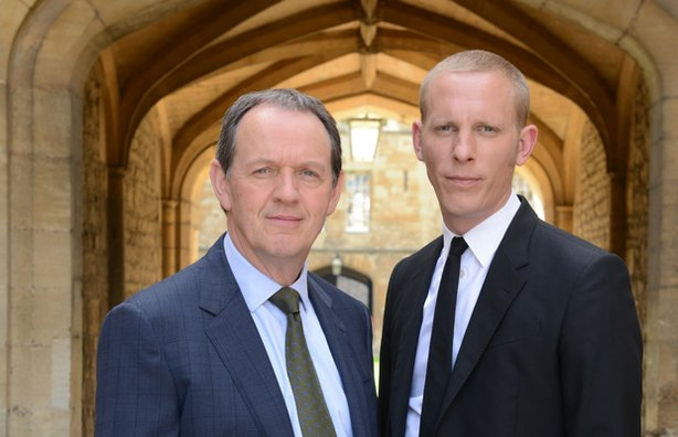Whately as Inspector Lewis and Laurence Fox as Inspector Hathaway